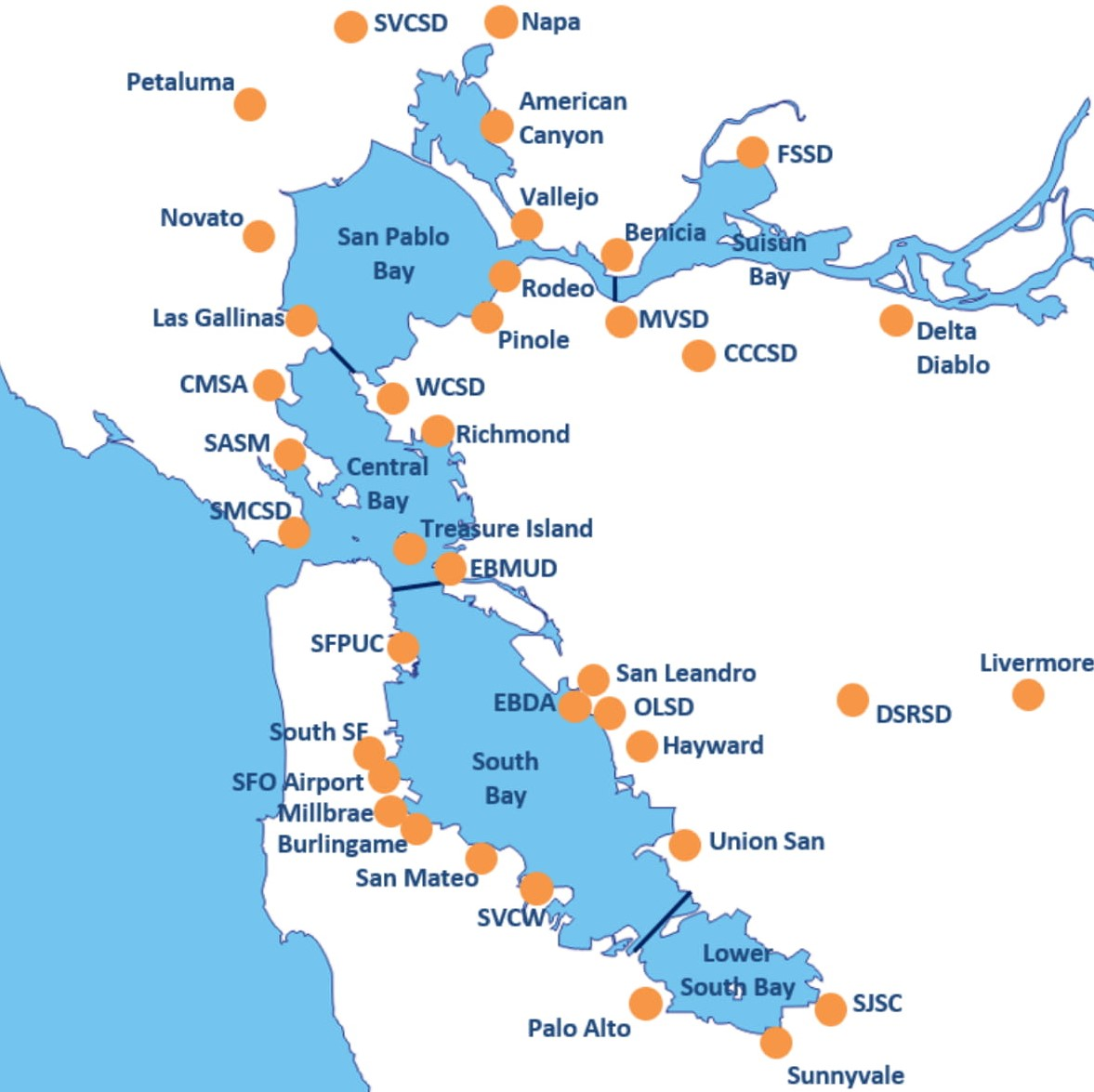 Bay Area Wwtp Map Baywise