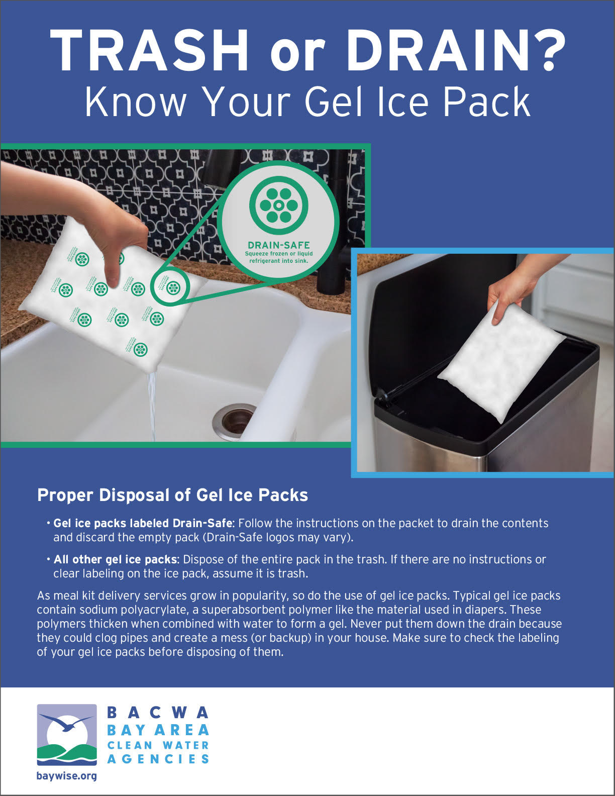 gel pack recycle, how to properly dispose and discard gel pack